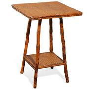 Furbish Studio - Milbrook tortoise bamboo with woven tops side table