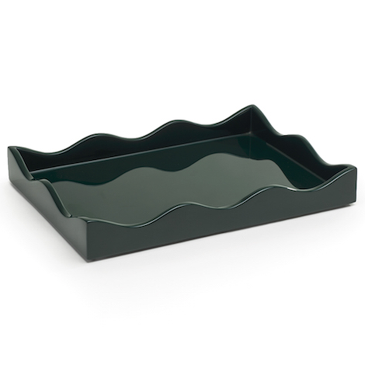 Small Belles Rives Tray - Bottle Green