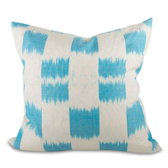 Light Blue Ikat Pillow