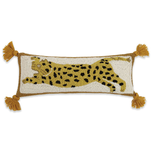 Cheetah Pom Pom Pillow