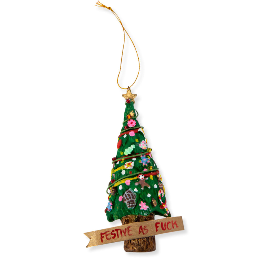FURBISH STUDIO - Festive AF Christmas Tree Ornament