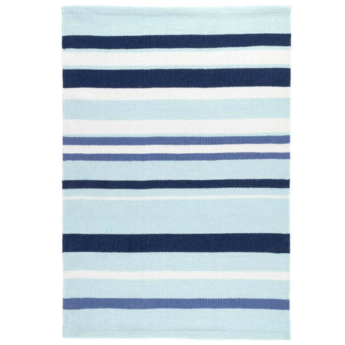 Furbish - Sardinia Blue Stripes Indoor/Outdoor Rug in blue shades