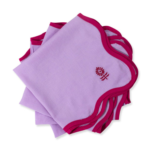 Furbish Studio - Inez Napkin in Lilac stack of 4