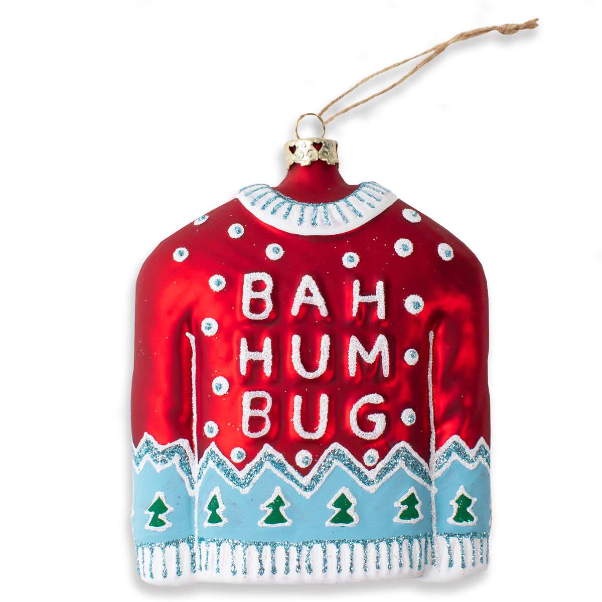 Furbish Studio - Bah Humbug Red Sweater Ornament