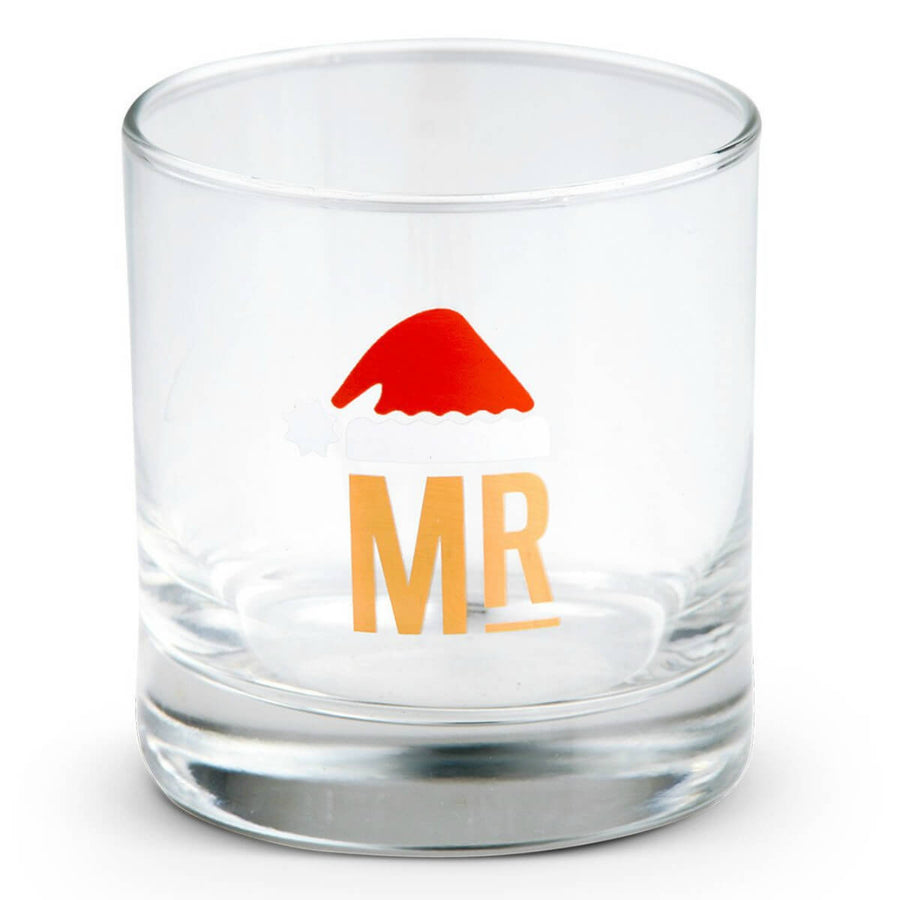 Furbish Studio - Mr. & Mr. Holiday Cocktail Glass with santa hat image