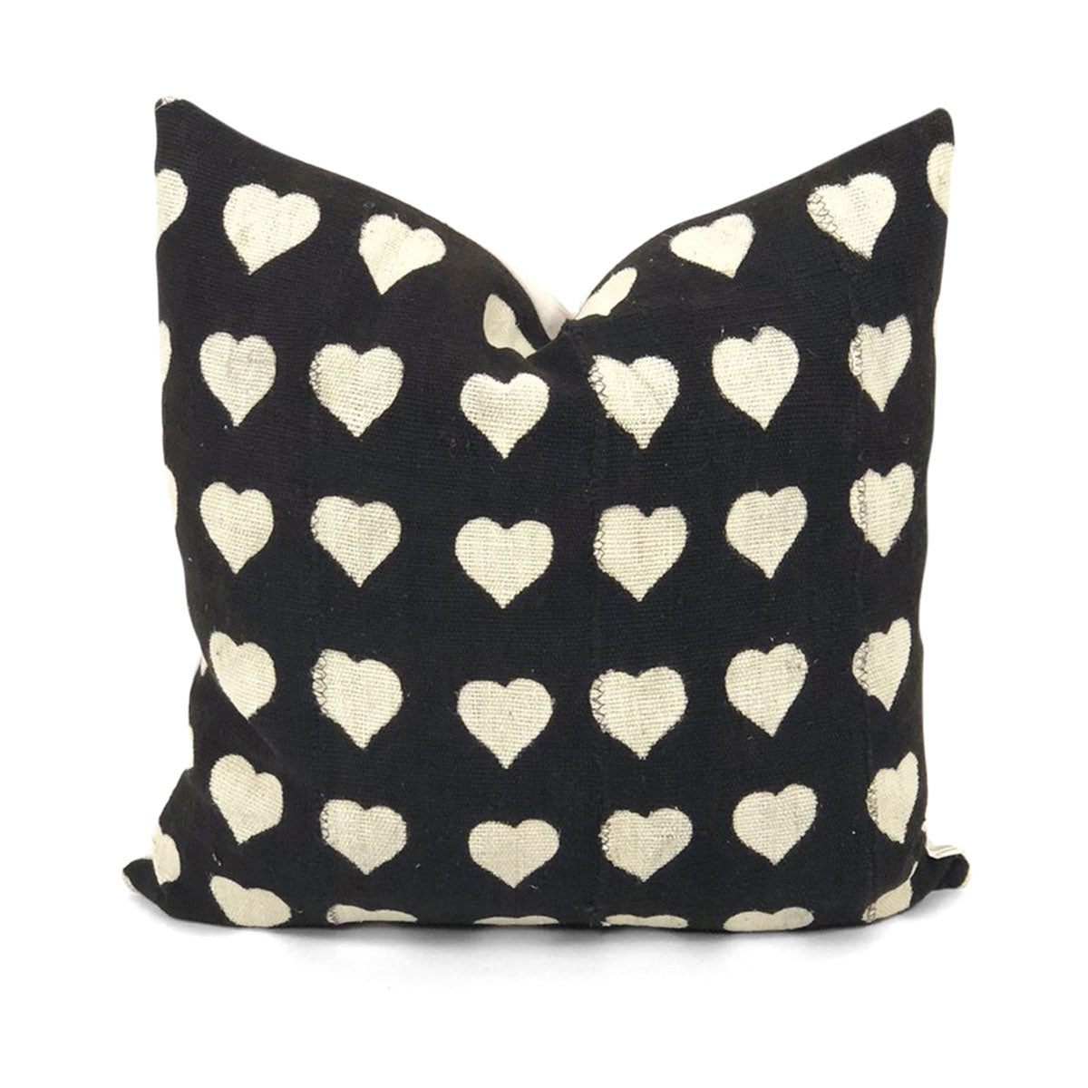Heart Mudcloth Pillow