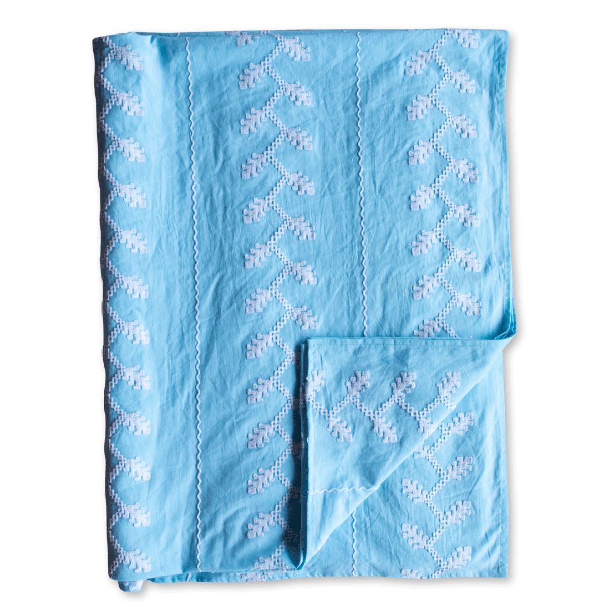 Helena Embroidered Textile - Azure