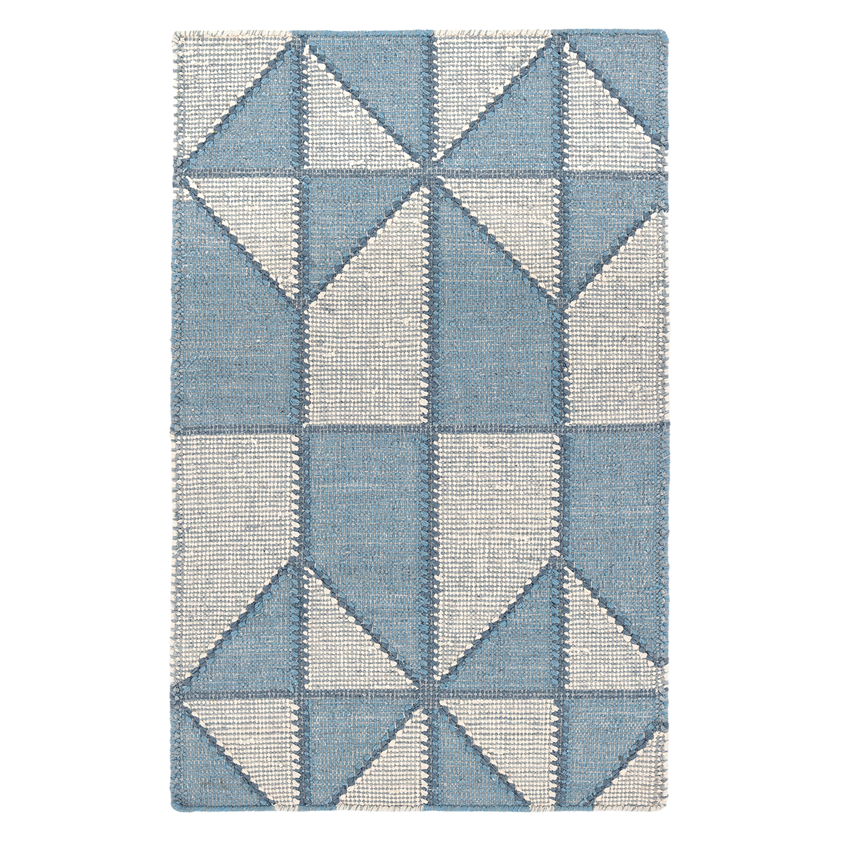 Furbish Studio - Highlands Rug blue loom knotted cotton rug