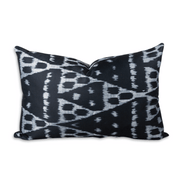 Furbish Studio - Black Diamond Ikat Lumbar Pillow