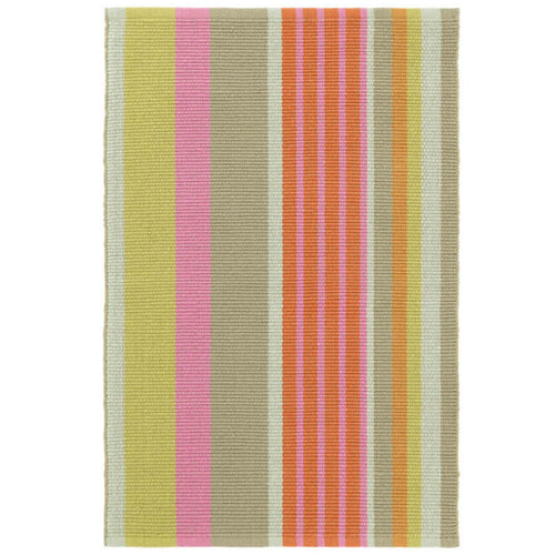 Furbish Studio - Joshua Tree Striped Rug in pink, orange, taupe