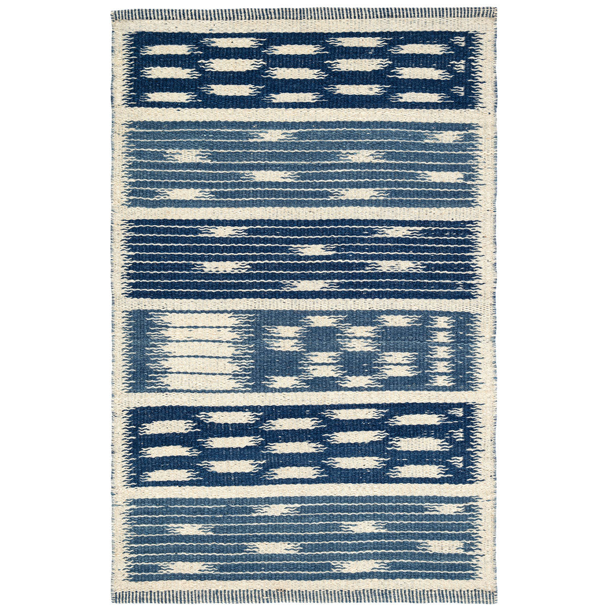 Kasuri Woven Wool Rug by Mark Sikes
