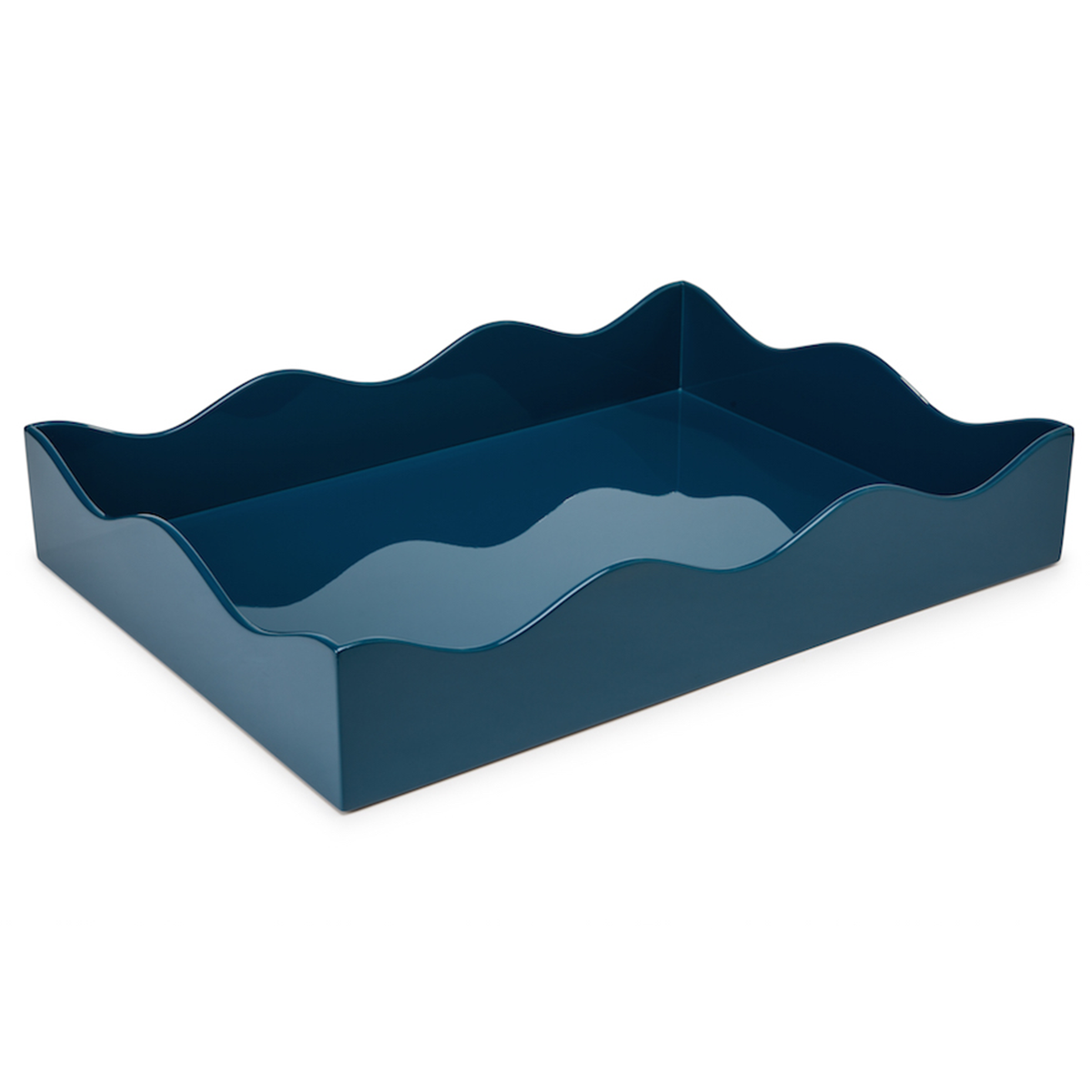 Large Belles Rives Tray - Marine Blue
