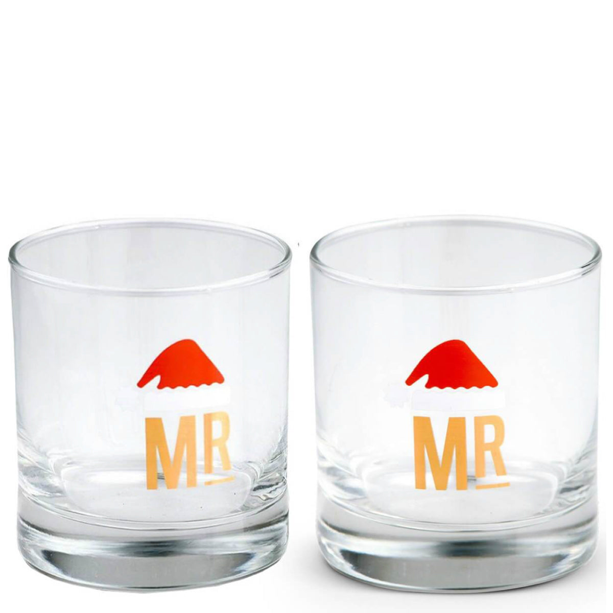 Mr. & Mr. Holiday Cocktail Glass Set