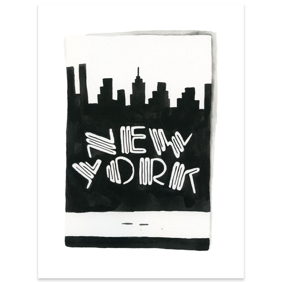 Furbish Studio - New York City Matchbook Watercolor Print large unframed