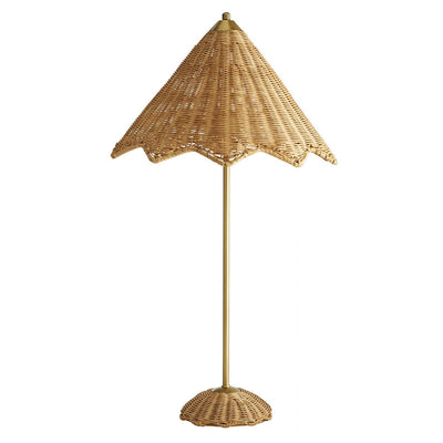 Furbish Studio - Rattan Parasol Table Lamp