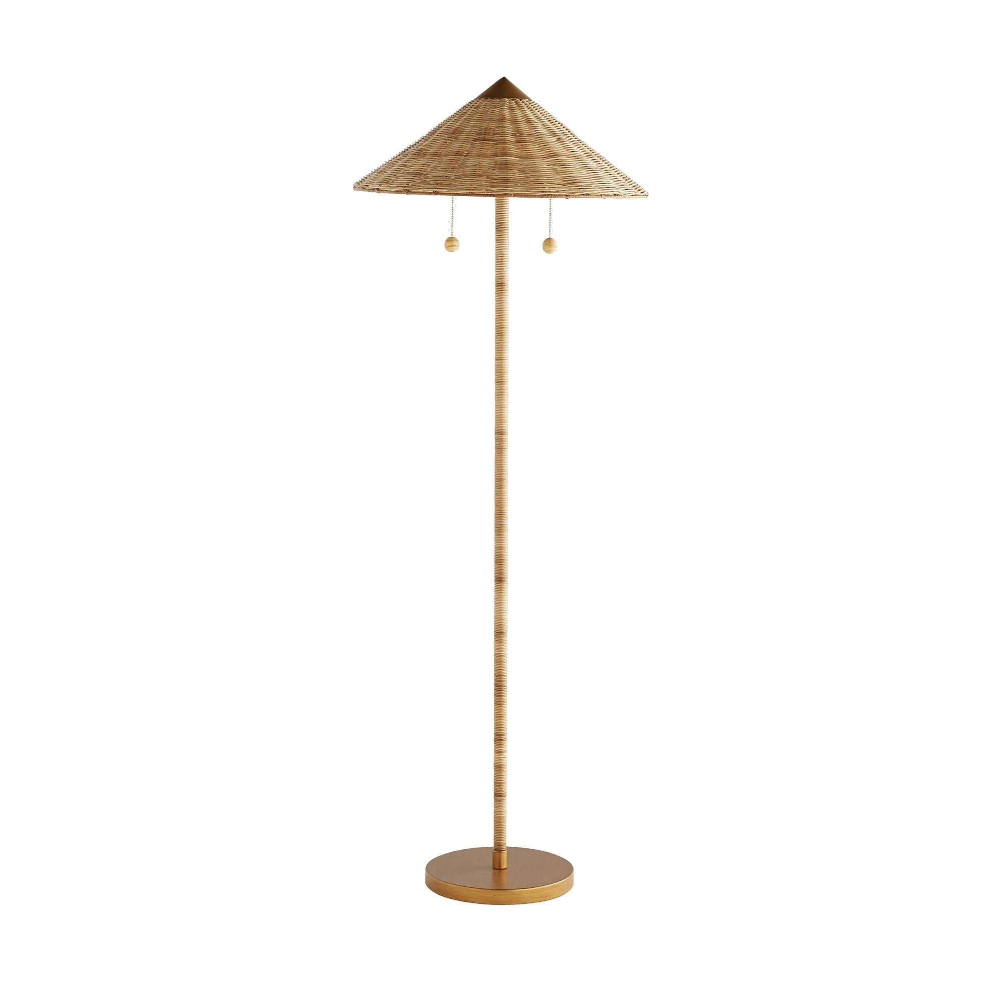 Furbish Studio - Rattan Wicker Parasol Floor Lamp