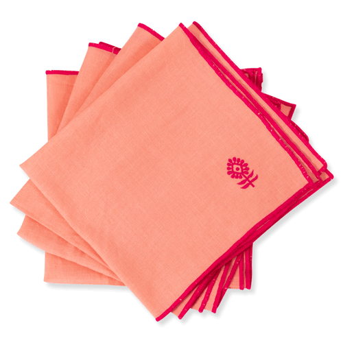 Icon Linen Napkin - Peach