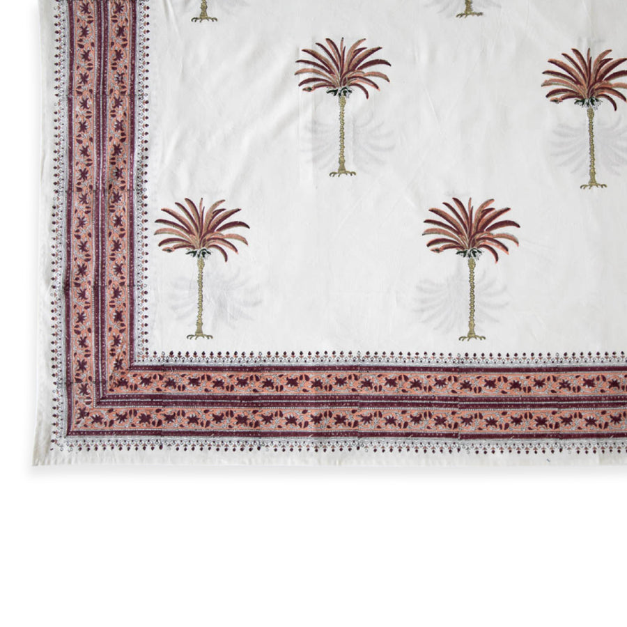 Pink Palm Tablecloth