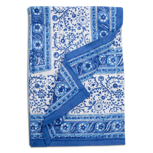 Furbish Studio - Raja Tablecloth, Bed Topper in Blue