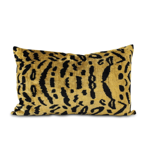 Furbish Studio - Velvet Tiger Ikat Lumbar Pillow