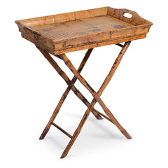 antique tortoise butler tray table