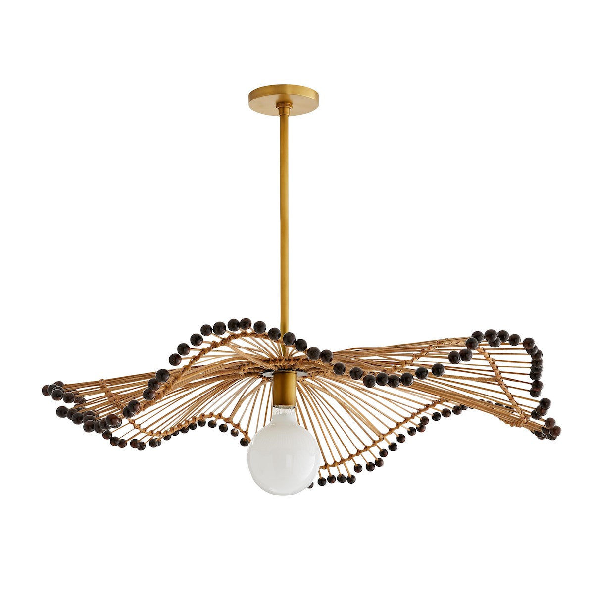 Furbish Studio - Veva Rattan and Buri Sticks Chandelier