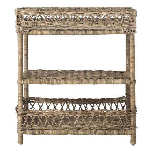 Oaks Bluff Wicker Tiered Table