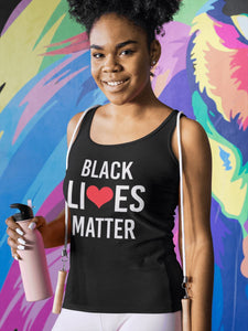 Black Lives Matter Ladies Racerback Tank Top T-shirt teelaunch