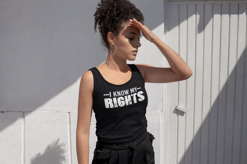 I Know My Rights Ladies Racerback Tank Top T-shirt teelaunch
