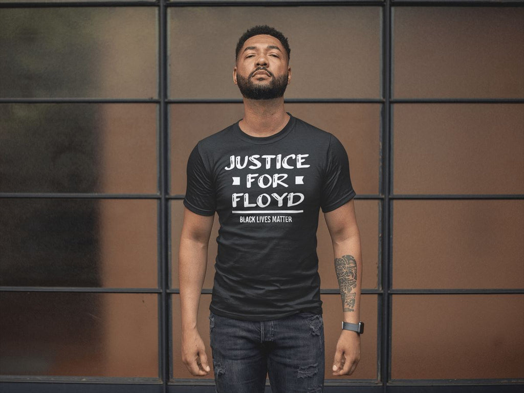 Justice For Floyd Men's T-Shirt T-shirt teelaunch