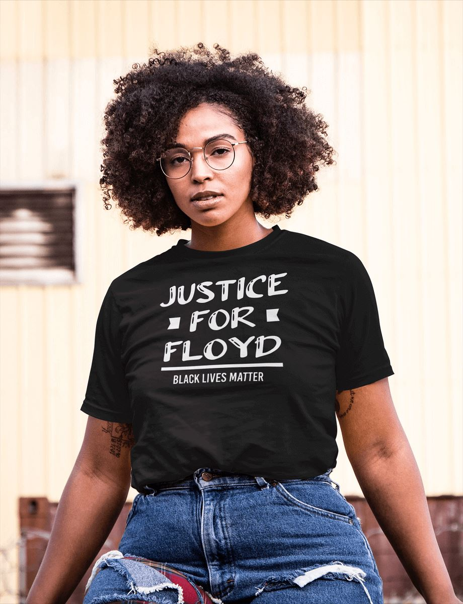 Justice For Floyd Women's T-Shirt T-shirt teelaunch