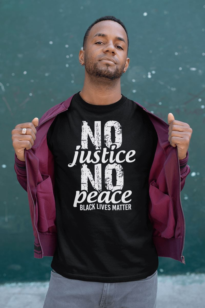 No Justice No Peace Men's T-Shirt T-shirt teelaunch