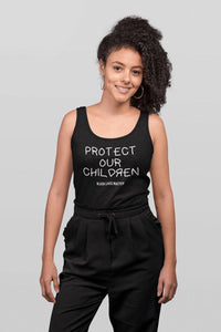 Protect Our Children Ladies Racerback Tank Top T-shirt teelaunch