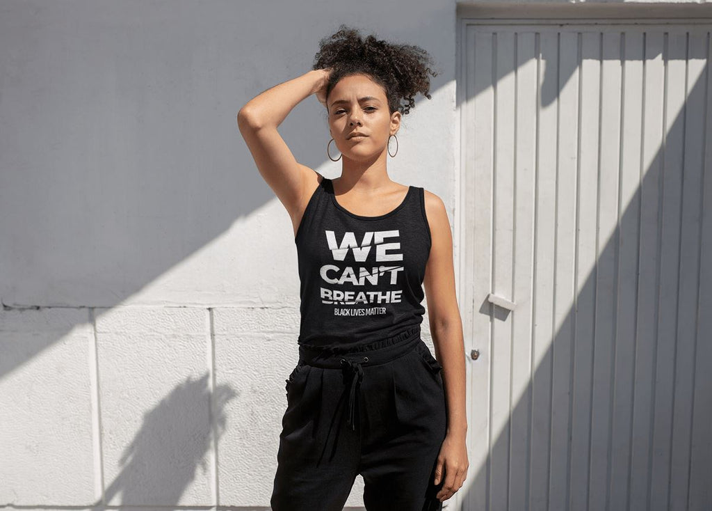We Can't Breathe Ladies Racerback Tank Top T-shirt teelaunch