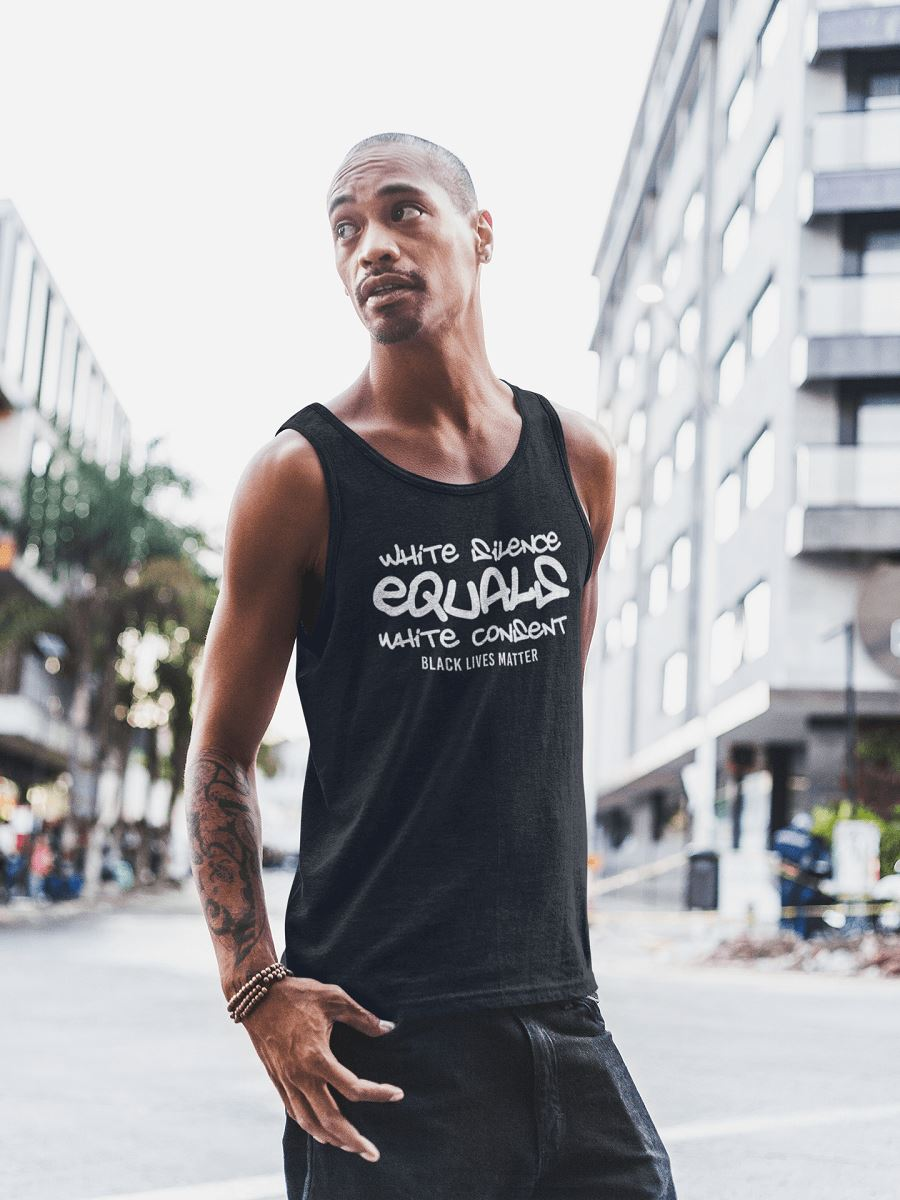 White Silence Equals White Consent Men's Tank Top T-shirt teelaunch