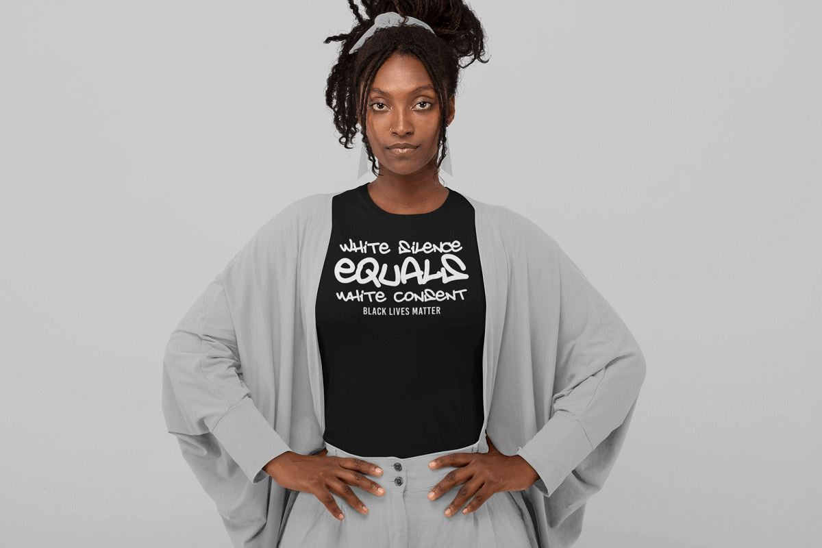 White Silence Equals White Consent Women's T-Shirt T-shirt teelaunch