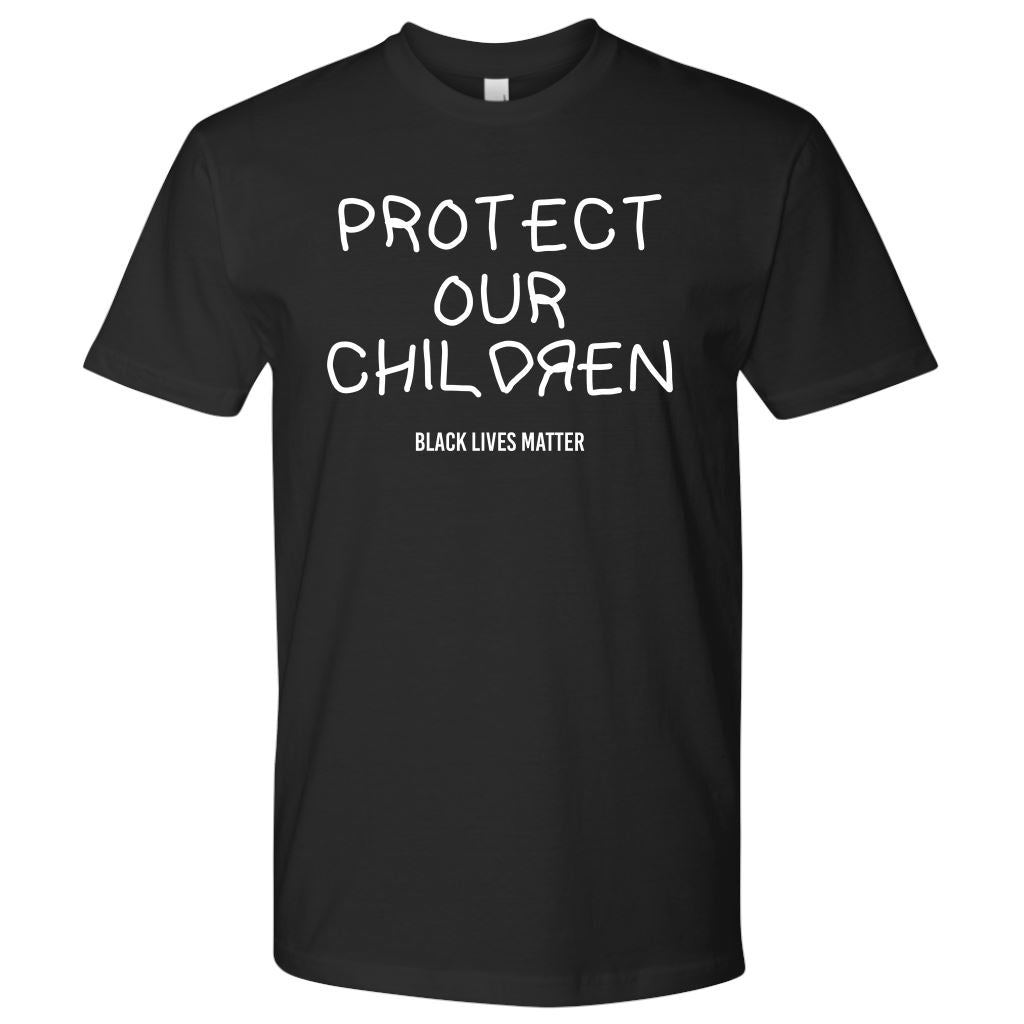 Protect Our Children Men's T-Shirt T-shirt teelaunch Next Level Mens Shirt Black S