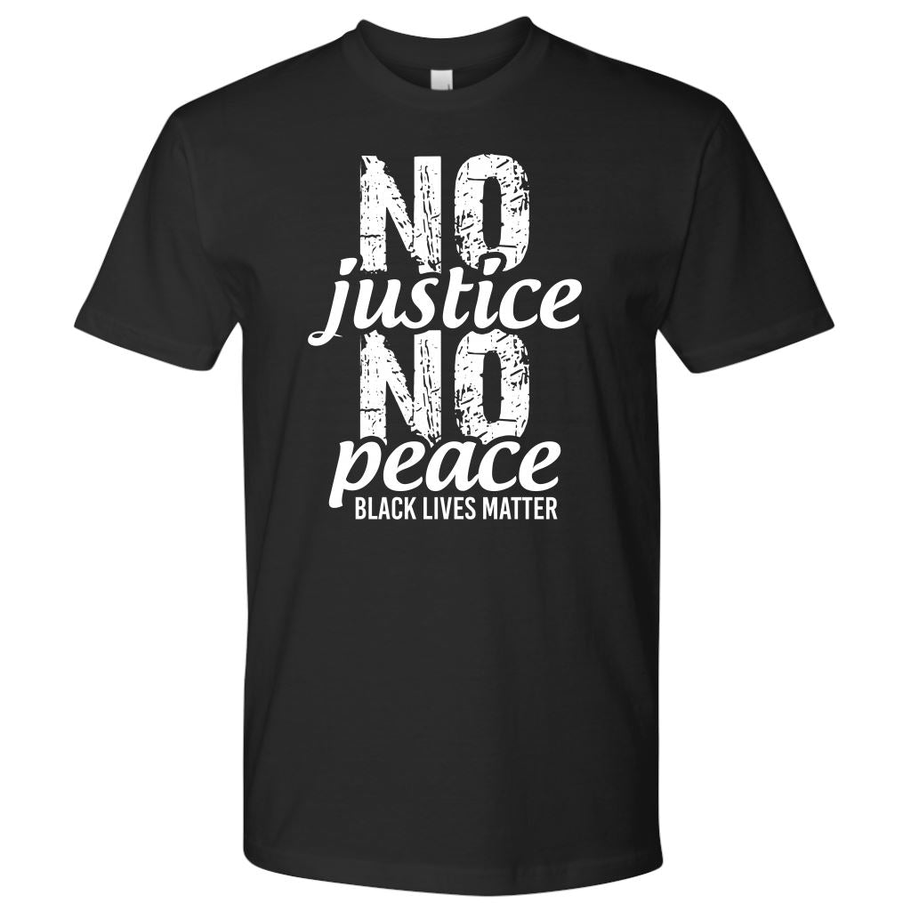 No Justice No Peace Men's T-Shirt T-shirt teelaunch Next Level Mens Shirt Black S