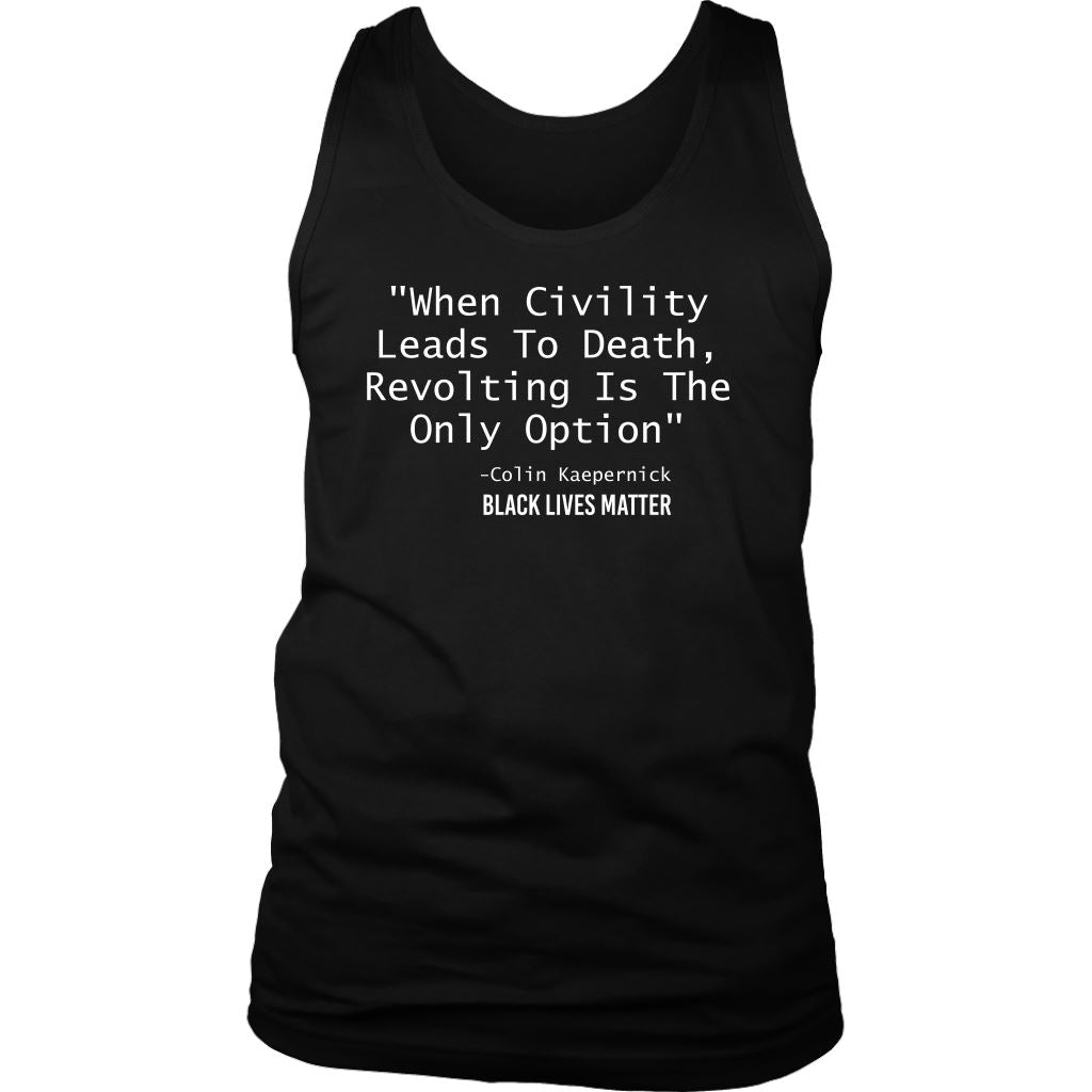 Revolting Is The Only Option Men's Tank Top T-shirt teelaunch District Mens Tank Black S