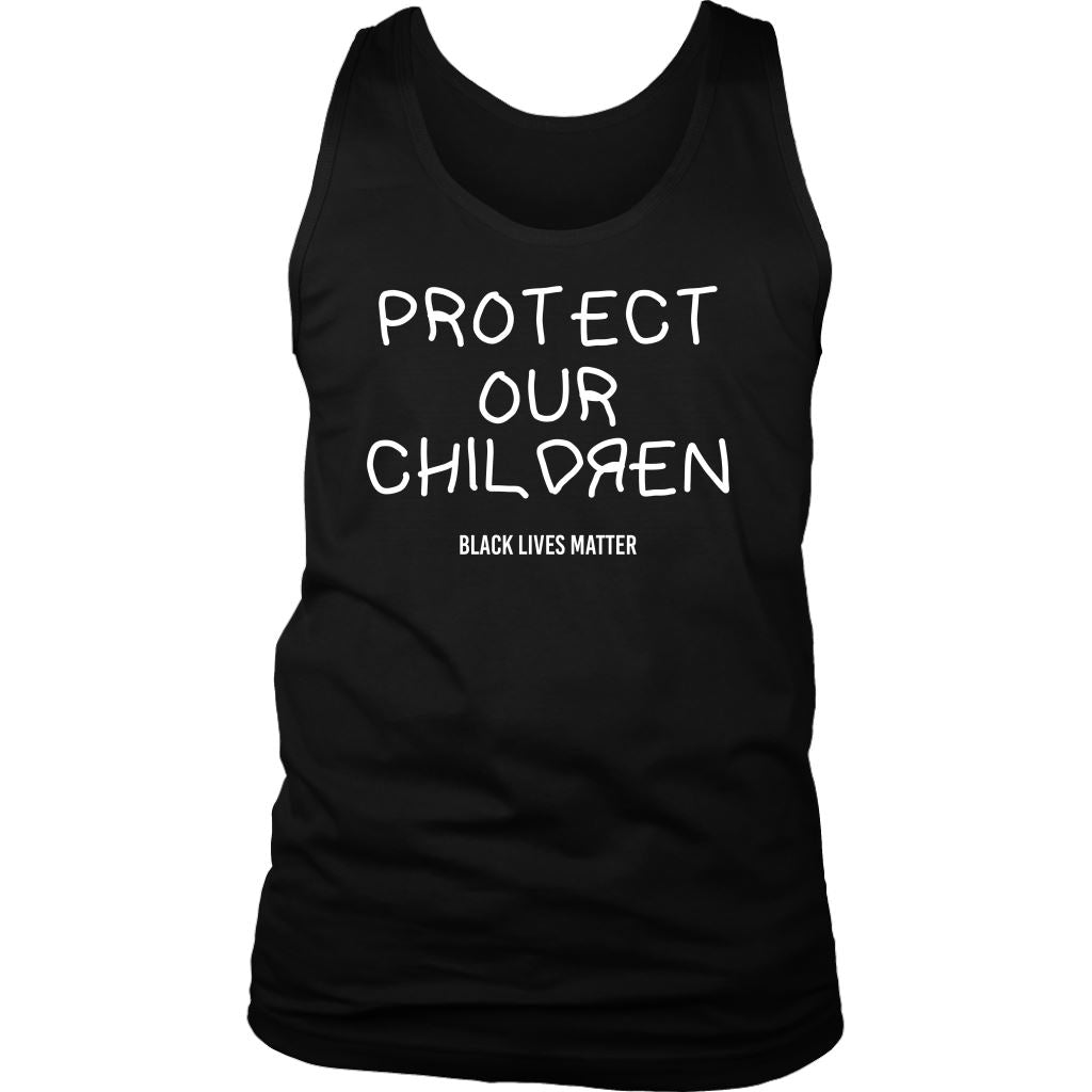 Protect Our Children Men's Tank Top T-shirt teelaunch District Mens Tank Black S