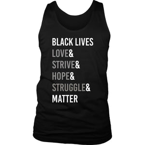 Love Strive Hope Struggle Men's Tank Top T-shirt teelaunch District Mens Tank Black S