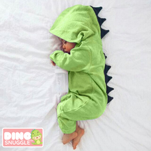 Load image into Gallery viewer, Dino Snuggle™️ Baby Dinosaur Romper