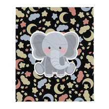 Load image into Gallery viewer, Lily the Baby Elephant Plush™️ Good Night Throw Blanket (Night Black)