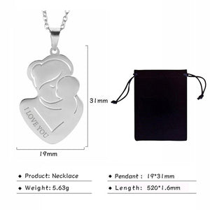 Custom Engraved Mother Pendant Necklace