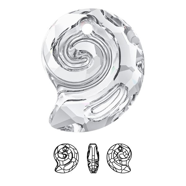 6731 Sea Snail Pendant Partly Frosted Swarovski Swarovski crystals Swarovski 14 mm Crystal