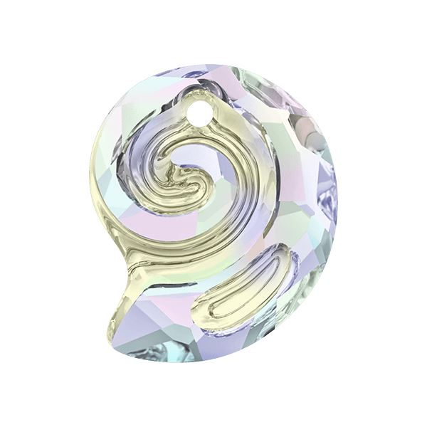 6731 Sea Snail Pendant Partly Frosted Swarovski Swarovski crystals Swarovski 14 mm Crystal AB
