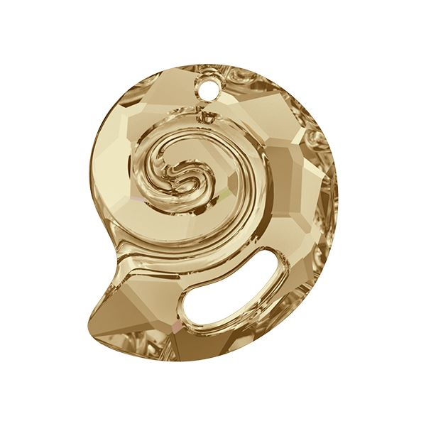 6731 Sea Snail Pendant Partly Frosted Swarovski Swarovski crystals Swarovski 14 mm Golden Shadow