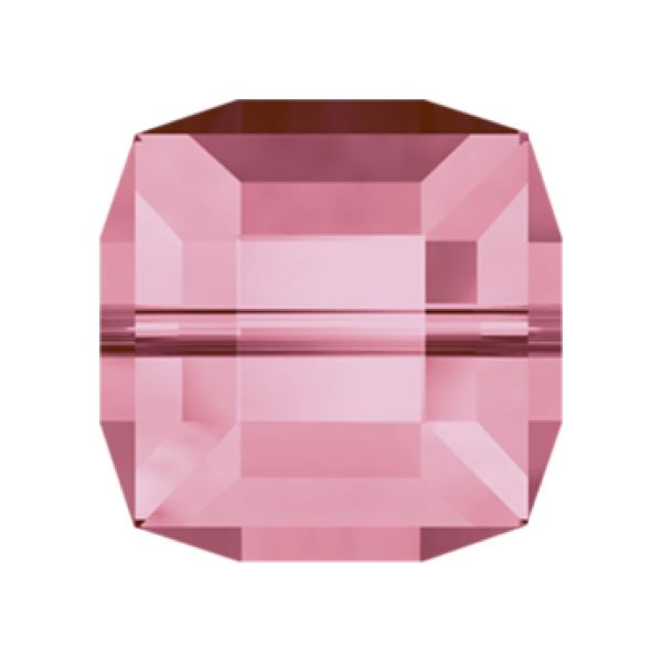 5601 4 mm Cube Bead Swarovski Swarovski crystals Swarovski 4 mm Light Rose