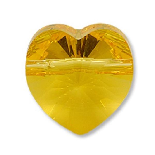 5742 Heart Bead Swarovski Swarovski crystals Swarovski 8 mm Light Topaz