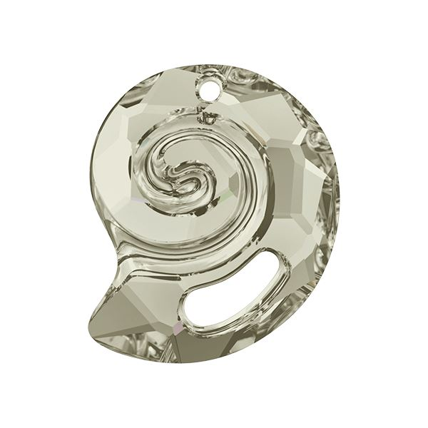 6731 Sea Snail Pendant Partly Frosted Swarovski Swarovski crystals Swarovski 14 mm Silver Shade